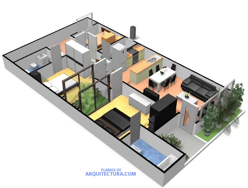 planos de casa peque a de un piso ideas para construir en