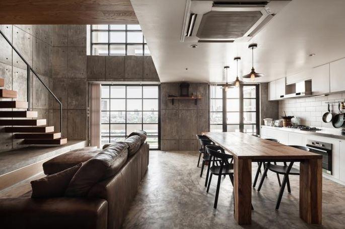 Dise o de departamento d plex de 180 m planos de arquitectura for Interiores de departamentos modernos