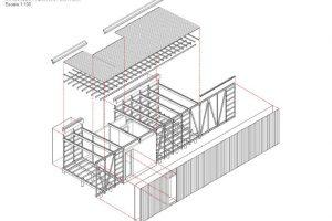 Axometria del sistema extructural