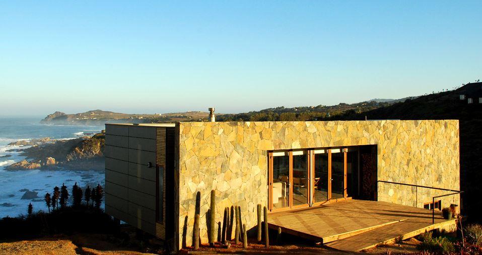 Casa De Playa En Pendiente Planos De Arquitectura