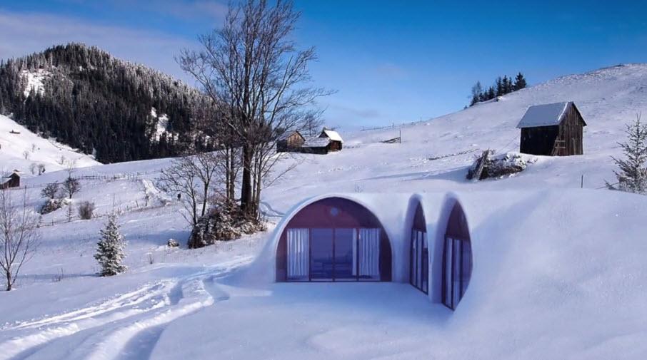 Casas prefabricadas en el hielo