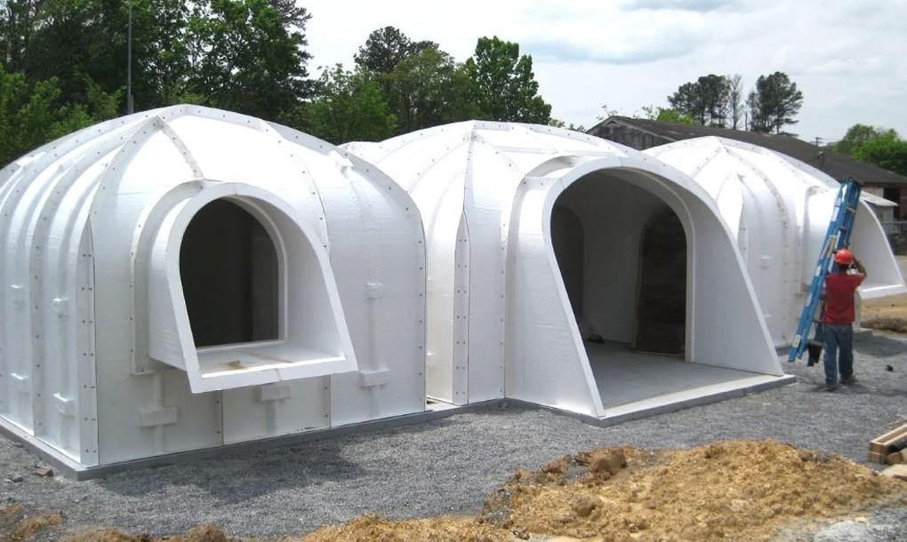 Construcción de casa prefabricada ecológica