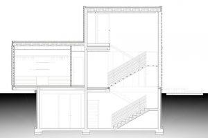 Corte de la hermosa casa de dos pisos