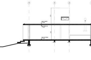 Corte longitudinal de la hermos casa