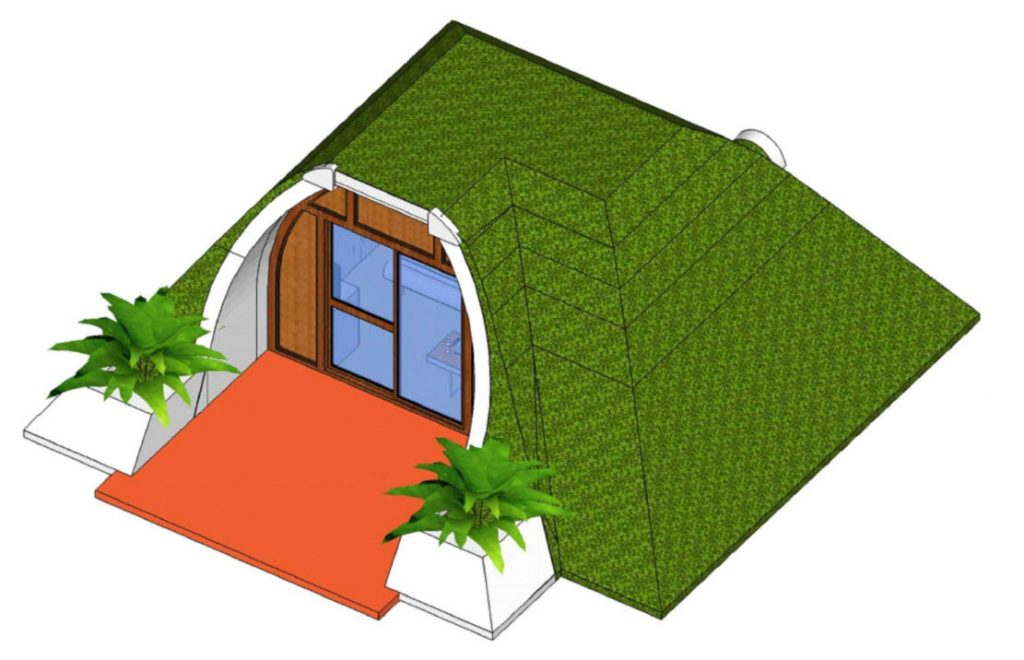 Diseño de casa prefabricada ecológica