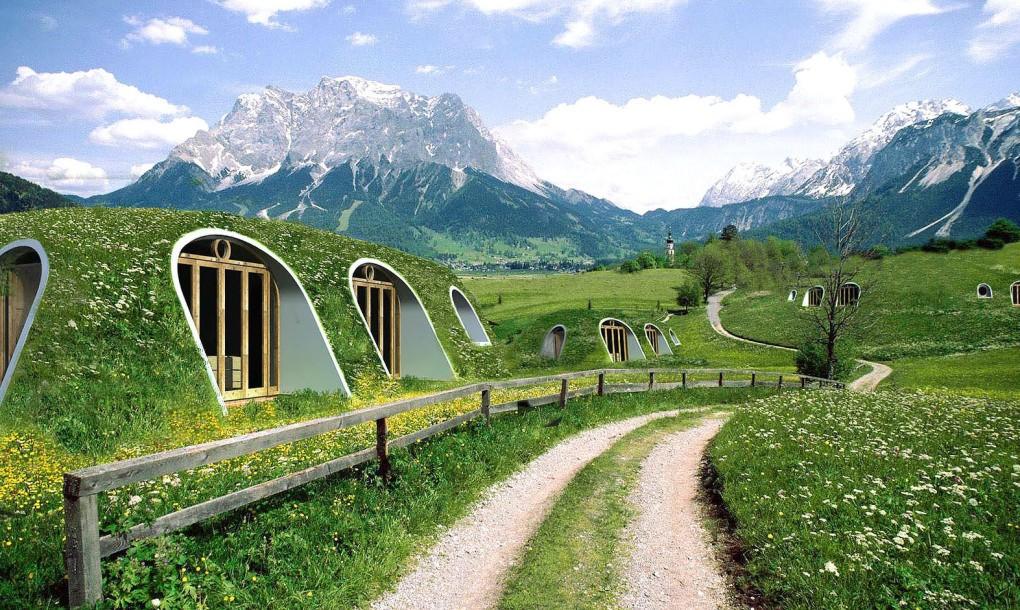 Diseño de casas ecológicas integradas al terreno