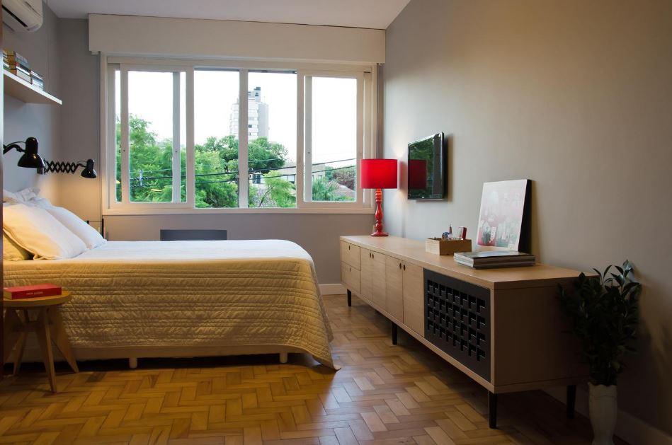 Diseño de elegante dormitorio principal
