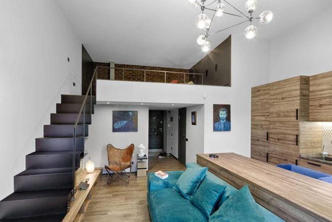 Dise o de moderno departamento d plex de 49 metros for Diseno de interiores departamentos modernos