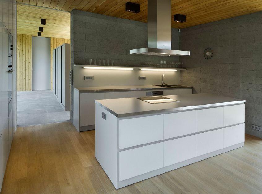 Diseño de pequeña cocina isla
