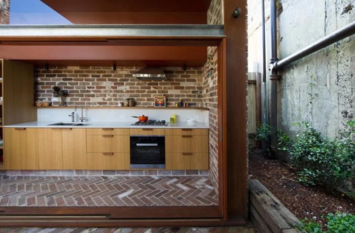 Diseño de pequeña cocina rústica