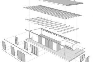 Estructura de la pequeña vivienda