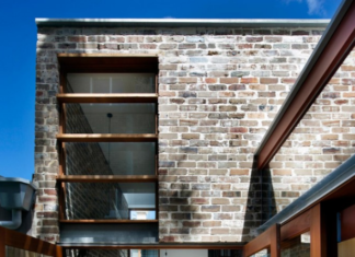 Fachada posterior de casa de ciudad