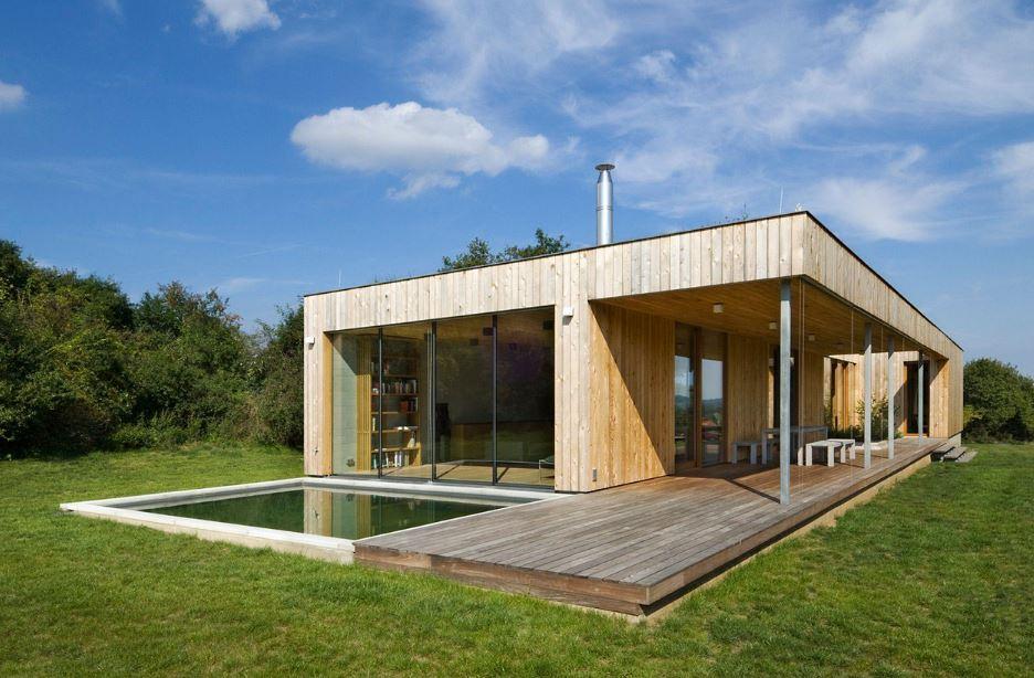 Hermosa casa de madera