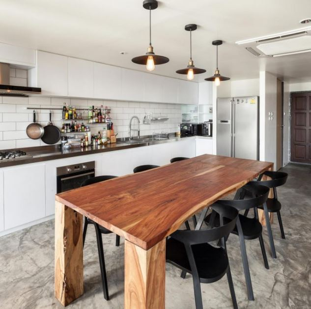 Hermoso diseño de cocina isla