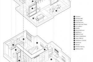 Imagen del pequeño departamento duplex