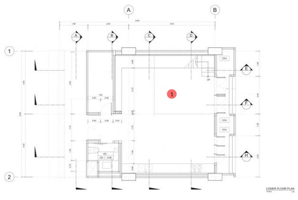 Planta del segundo nivel del departamento planos de for Diseno de casa de 180 metros cuadrados