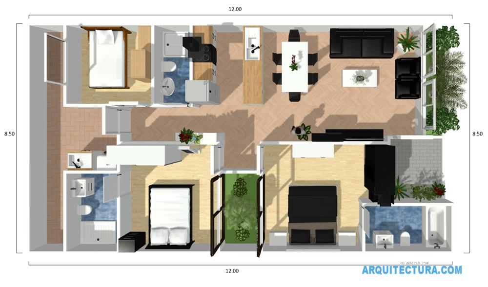Planos de casa peque a de un piso ideas para construir en for Crear planos de casas