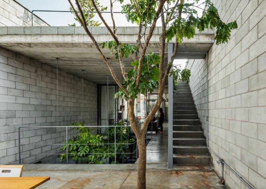 Interior de moderna terraza