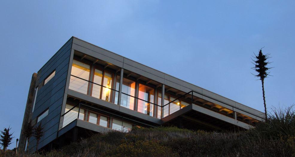 Moderna casa de playa con tres dormitorios