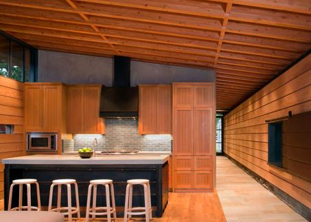 Moderno interior en madera