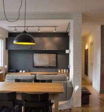 Moderno sala comedor de pequeño departamento