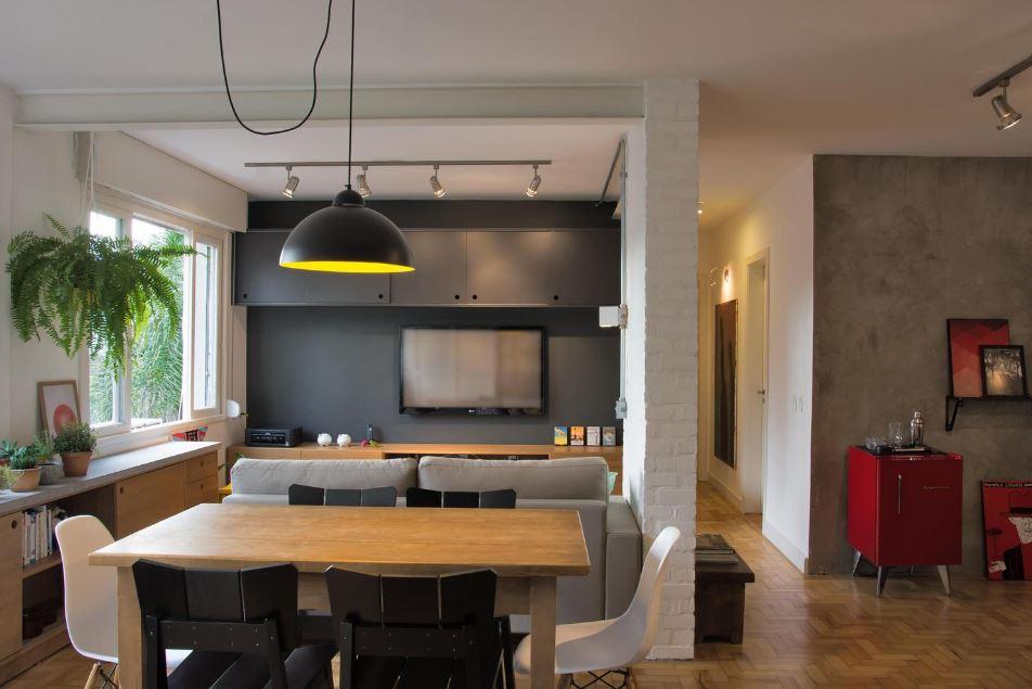 Moderno sala comedor de pequeño departamento – Planos de Arquitectura