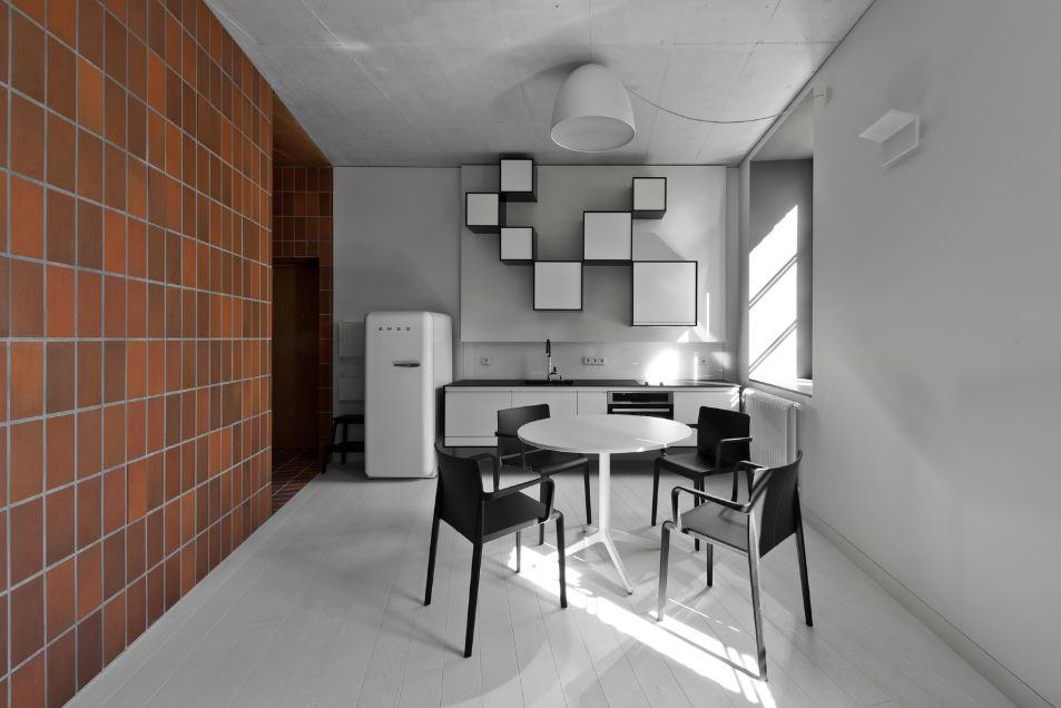 Dise o de peque o departamento de 45 metros cuadrados for Cocina comedor pequena