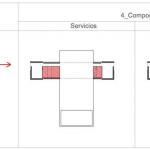 Plano de elementos de composición arquitectónica