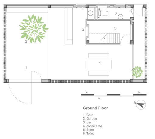 Planta del primer nivel de la casa