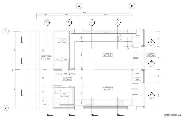 Hermoso dormitorio con amplias mamparas planos de for Diseno de casa de 180 metros cuadrados