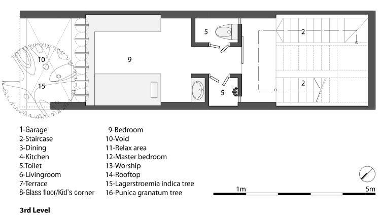 Planta del tercer nivel de la casa