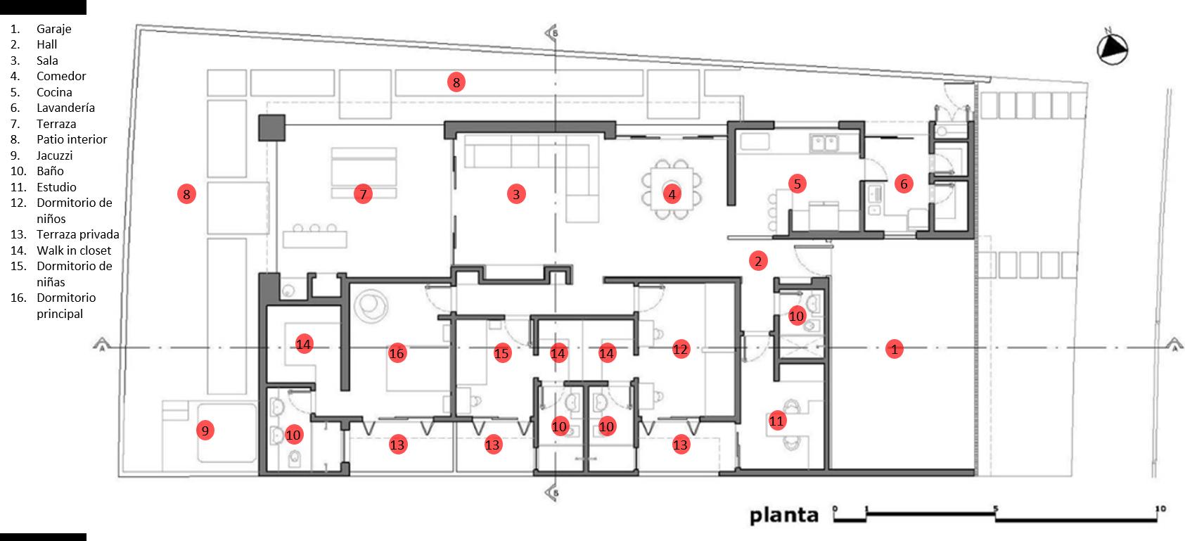 Moderna casa de un piso y tres dormitorios planos de for Plantas de casas de un piso