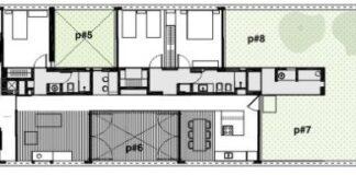 Casas largas y angostas planos de arquitectura for Diseno de casa de 120 metros cuadrados