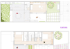 Plantas de la hermosa casa de dos pisos