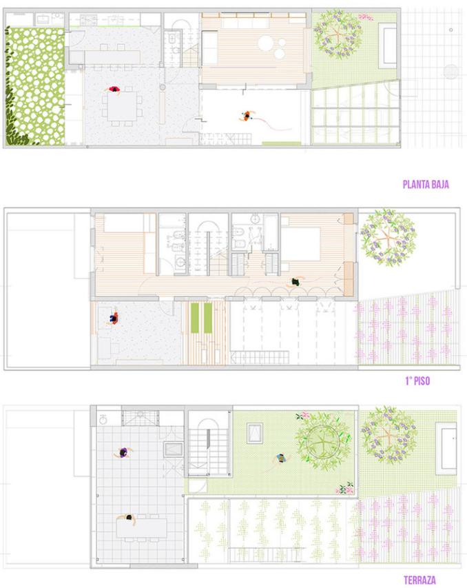 Dise o casa moderna dos pisos planos de arquitectura for Plantas modernas para jardin