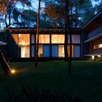 Casa de campo de noche
