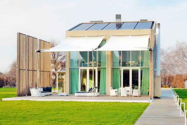 Diseño de moderna casa sustentable