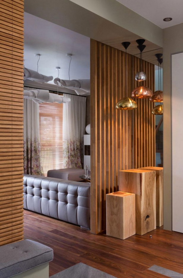 Dise o de departamento d plex de 160 metros cuadrados - Muro de madera ...