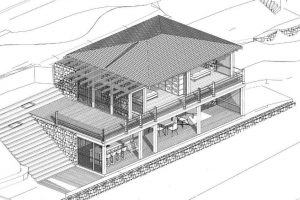 Diseño 3D de la hermosa casa