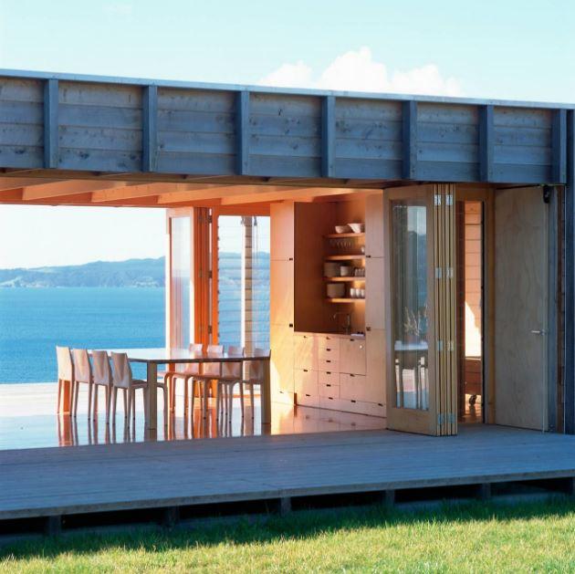 Dise o de peque a casa de campo presenta modernos - Terrazas de casas de campo ...