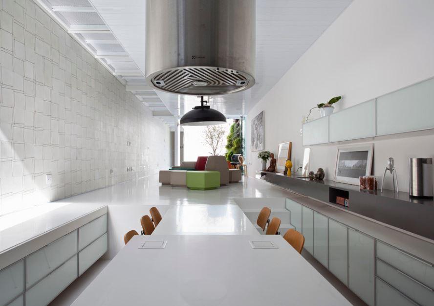 Diseño de amplios y modernos interiores