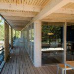 Diseño de hermosa casa de madera