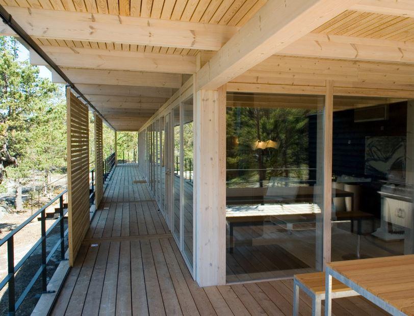 Casas de estructura de madera elegant pared exterior con - Casas estructura de madera ...