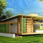 Diseño de hermosa casa sostenibl