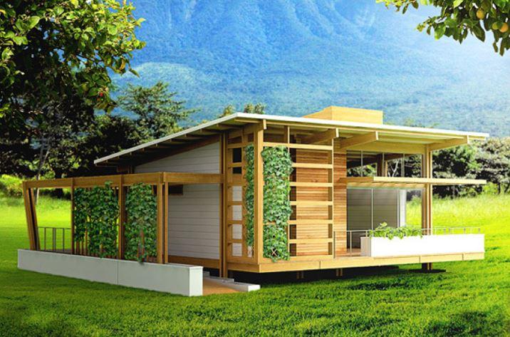 Diseño de hermosa casa sostenible