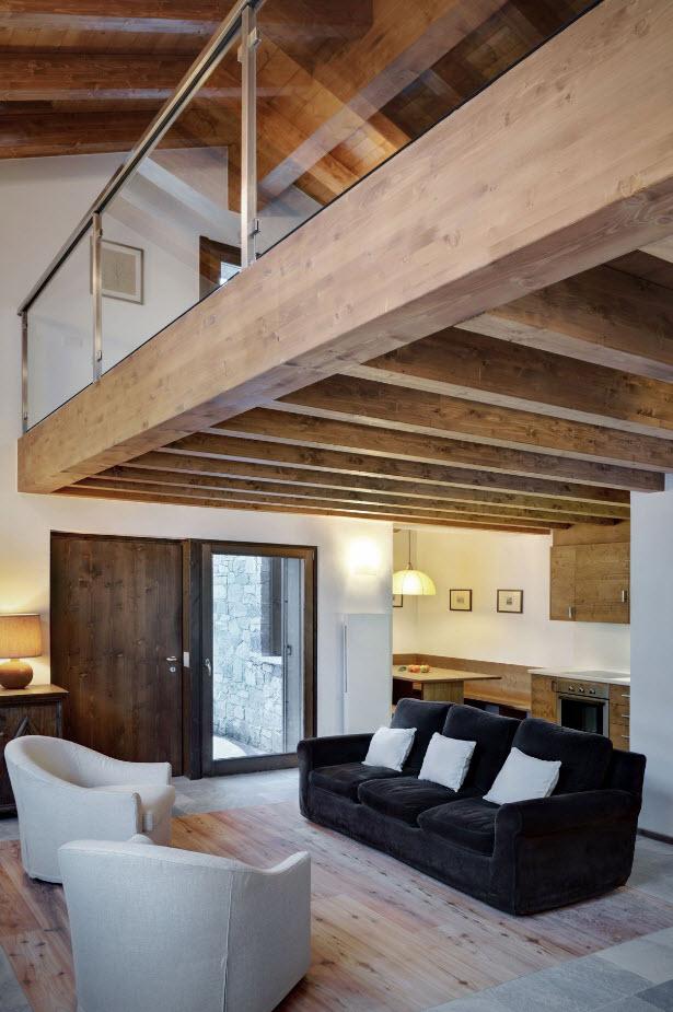 Diseño de hermosa sala con doble altura