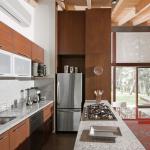 Diseño de moderna cocina isla