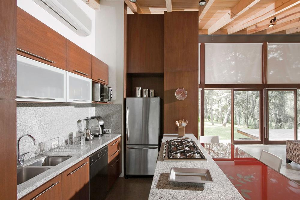 Diseño de casa de campo, construccion moderna con estructura de ...