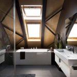 Diseño de moderno cuarto de baño