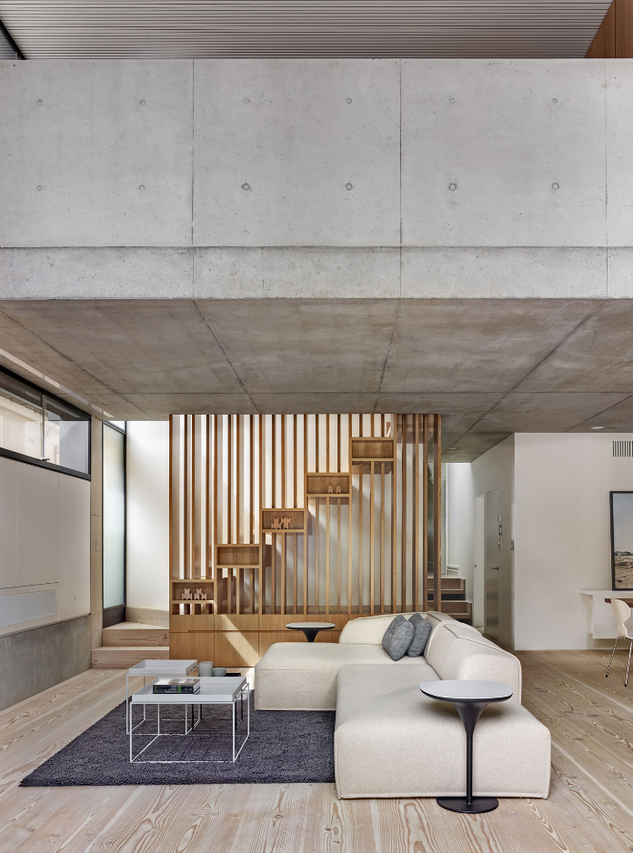Dise o de moderna casa de dos pisos estructura de for Diseno de la casa interior